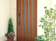 木の風合い リフォーム玄関ドア